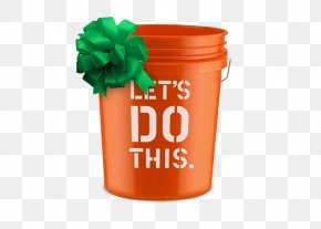 Home Depot - Bucket The Home Depot Lid Pail Paint PNG