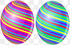 Easter Eggs With Bow Transparent Clip Art Image - Easter Egg Clip Art PNG