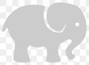 Contemporary Cliparts - African Elephant Indian Elephant PNG