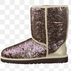 Pink Sparkle Ugg Boots - Snow Boot Shoe Purple PNG