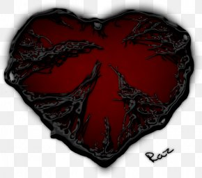 Dark Red Heart Pic - Light Heart Darkness Color PNG