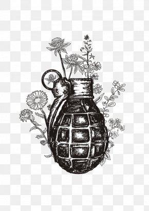 Black Grenade - Grenade Tattoo Weapon Illustration PNG