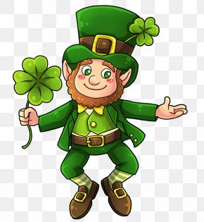 Saint Patrick's Day - Leprechaun Saint Patrick's Day Shamrock Clip Art PNG