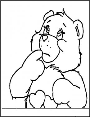 Cheer Images Free - Love-A-Lot Bear Funshine Bear Care Bears Coloring Book PNG