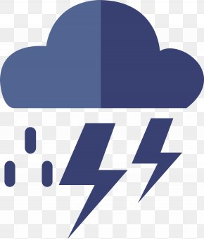 Lightning Vector Weather Icon - Weather Wind Cloud Icon PNG
