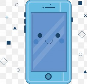 Blue Cell Phone - Telephone Google Images Cartoon PNG