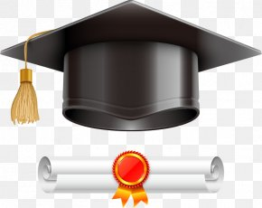 Vector Dr. Cap And Certificate - Graduation Ceremony Square Academic Cap Diploma Illustration PNG