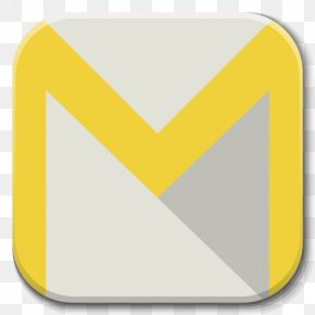 Apps Email Client Android - Triangle Symbol Yellow Sign PNG