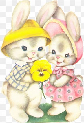 Easter - Easter Bunny Easter Postcard Greeting & Note Cards Rabbit PNG