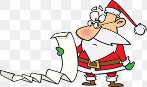Santa Claus - Santa Claus Christmas Wish List Clip Art PNG