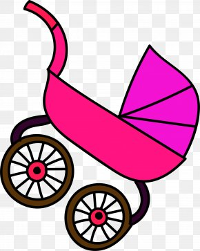 Purple Cartoon Baby Carriage - Baby Transport Infant Child Clip Art PNG