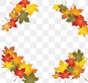 The Falling Leaves Of Autumn - Autumn Leaf Color Clip Art PNG