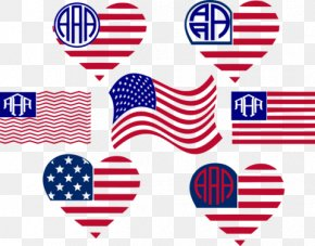 United States - Flag Of The United States Monogram Independence Day PNG