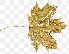 Gold - Gold Leaf Clip Art PNG