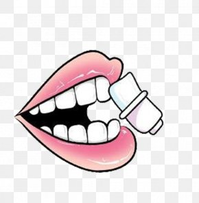 Mouth Chewing Gum - Tooth Mouth Face Tongue Permanent Teeth PNG
