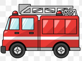 Fire Truck Cliparts - Fire Engine Firefighter Truck Fire Station PNG