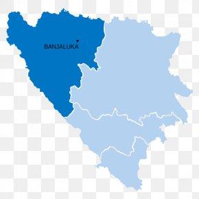 Map - Bosnia And Herzegovina Vector Graphics Illustration Royalty-free Bosnian War PNG