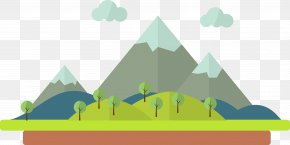 Cartoon Mountain Scenery - Cartoon Drawing Illustration PNG