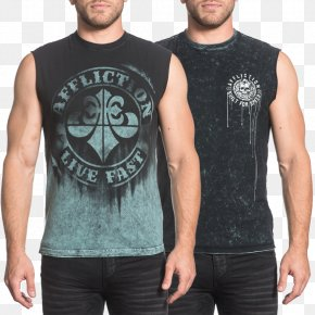 T-shirt - T-shirt Sleeveless Shirt Affliction Clothing PNG