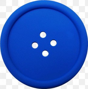 Clothes Button - Blue Circle Design Product PNG