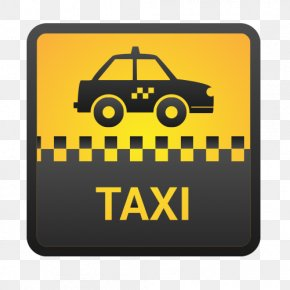 TAXI Yellow Taxi Vector - Taxi Stock Illustration Icon PNG