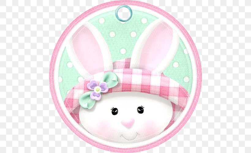 Easter Bunny European Rabbit Birthday, PNG, 500x500px, Easter Bunny, Baby Shower, Baby Toys, Birthday, Blue Download Free