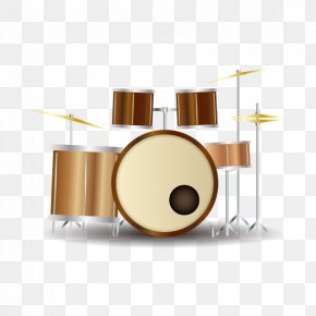 Vector Hand-painted Drums Musical Instruments - Drums Tom-tom Drum Musical Instrument PNG