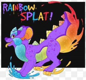 Rainbow Splat - Vertebrate Illustration Clip Art Pink M Design M Group PNG