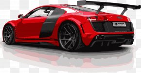 Red Refitted Sports Car - Audi R8 LMS (2016) 2012 Audi R8 GT Sports Car PNG