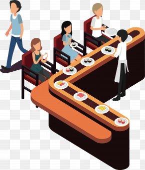 Japanese Sushi - Conveyor Belt Sushi Japanese Cuisine PNG