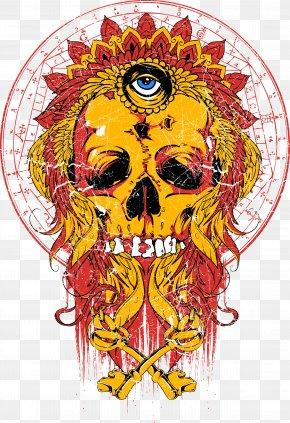 Eye Skull Print - Printed T-shirt Clothing Printing PNG