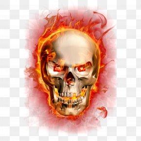 Flame - Clip Art Flame Fire Skull Illustration PNG