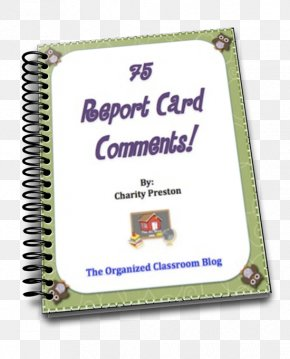 Spiral Binder - Report Card Teacher Kindergarten School Writing PNG