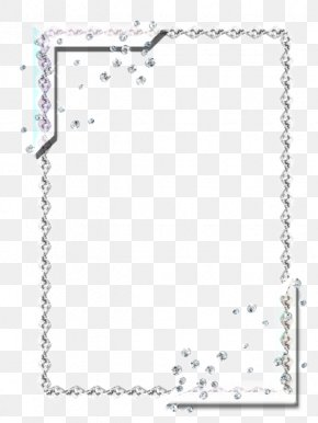 Silver Frame - Gemstone Picture Frame Ornament PNG