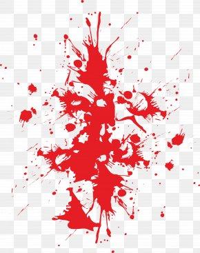 Blood Splashed Everywhere - Blood Type Splatter Film PNG