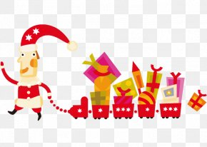 Vector Festive Atmosphere Fairy Tale - Christmas Gift Holiday Wallpaper PNG