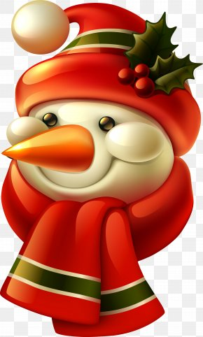 Snowman - Santa Claus Candy Cane Christmas Holiday Gift PNG