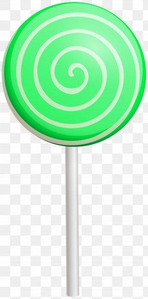 Green Swirl Lollipop Clip Art Image - Green Font Design Product PNG