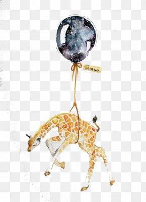 Watercolor Giraffe - Drawing Watercolor Painting Art Illustration PNG