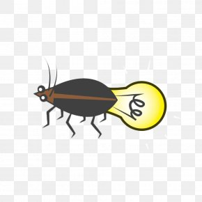 Hand-painted Creative Firefly Bulb - Light Drawing Firefly Illustration PNG