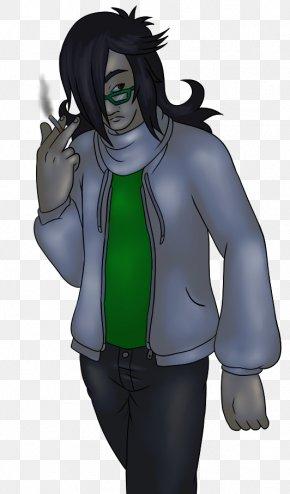 Old Friends - Legendary Creature Supervillain Black Hair Outerwear PNG