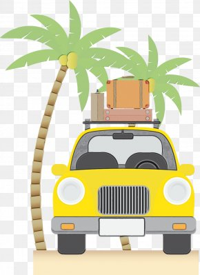 Palm Tree Compact Car - Summer Palm Tree PNG
