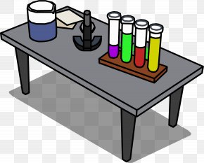 Table - Table Club Penguin Laboratory Wiki Clip Art PNG