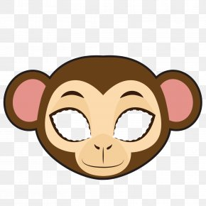 Vector Monkey Mask - Monkey Clip Art PNG