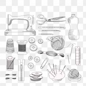 Vector Sewing Needle And Thread - Euclidean Vector Tailor Sewing Needle Sewing Machine PNG
