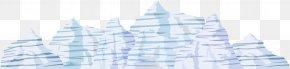 Vector Iceberg - Paper Blue Brand Pattern PNG