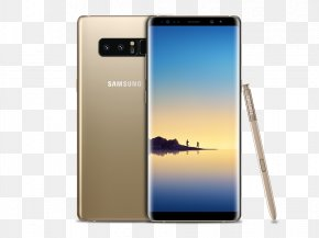 Golden Note - Samsung Galaxy Note 8 Samsung Galaxy Note 7 Telephone Smartphone Android PNG