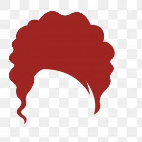 Middle-aged Woman Red Brown Hair Wig - Wig Red PNG