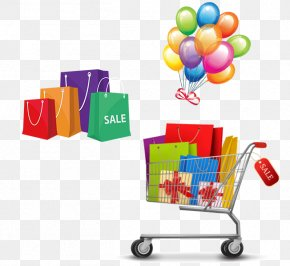 Shopping Cart Shopping Bag Balloon - Shopping Cart Stock Photography Shopping Bag PNG