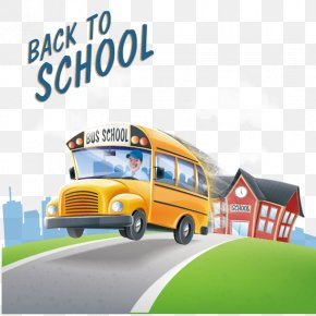 Vector School Bus Back To School - School Bus Bus Driver PNG